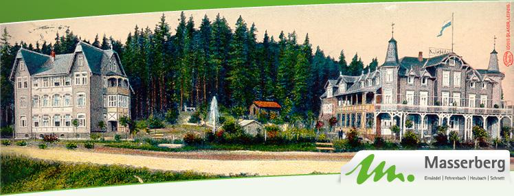 altes Kurhaus und Hauptmotiv im Film Masserberg